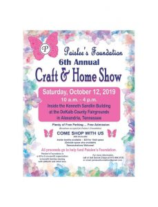 6th Annual Paislee's Foundation Craft & Home Show Set for Saturday, October 12