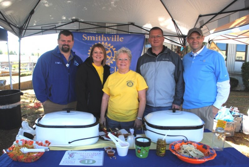 2019 Habitat Chili Cook-Off and Bake Sale: Smithville Rotary Club-Johnny Ball, Tabitha Anderson, Brenda Cantrell, Chris Griffith, and Clint Hall