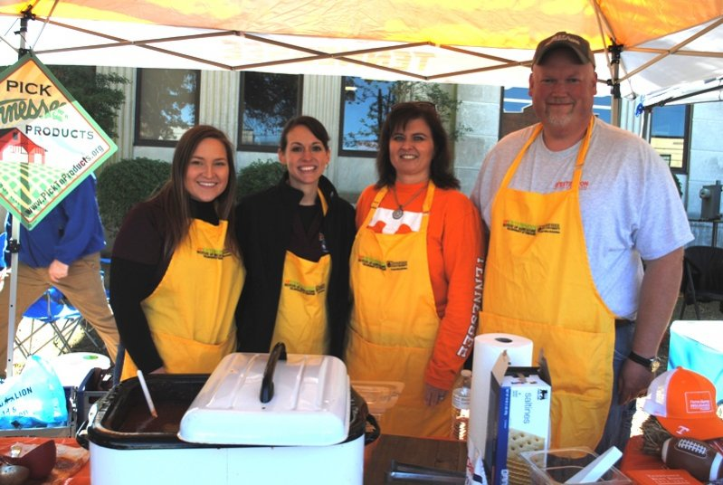 "2019 Habitat Chili Cook-Off and Bake Sale: ""Tennessee Tradition"" from DeKalb UT Extension- Tiffany Wood, Leigh Fuson, April Martin, and Johnny Barnes."