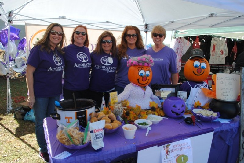 2019 Habitat Chili Cook-Off and Bake Sale: Adoration Home Health- Kim Foutch, Teri Rowe, Brandi Cantrell, Lori Turner, and Ruth Hobbs