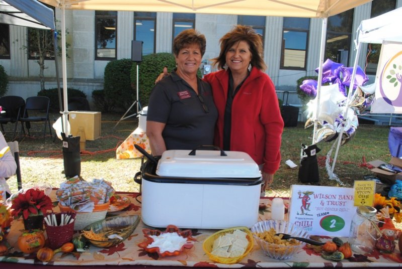 "2019 Habitat Chili Cook-Off and Bake Sale: ""Hot Checks Chili"" from Wilson Bank and Trust- Cynthia Agee and Teresa Adcock"