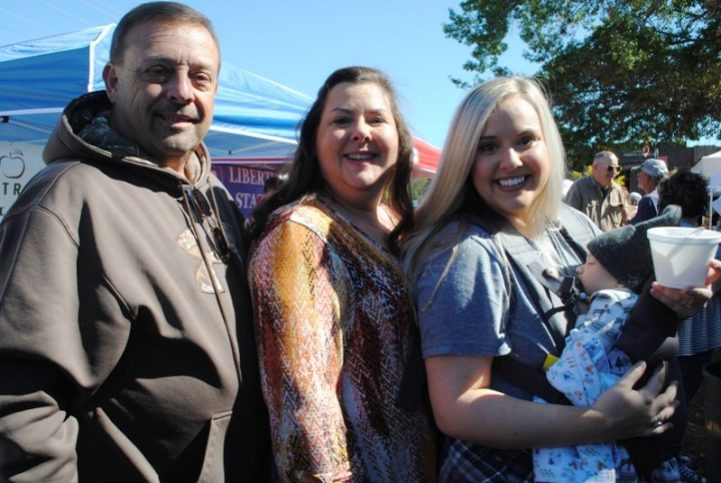 Jeff and Deborah Cantrell with their daughter Taylor Watson and 10 week old grandson Forrest Watson at the Chili Cook-Off and Bake Sale