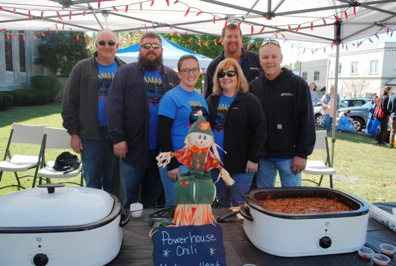 "2019 Habitat Chili Cook-Off and Bake Sale: ""Power House Chili"" from Smithville Electric System placed 2nd for Best Chili and 2nd for Best Decorated Booth-Richie Knowles, Jeremy Ashburn, Megan Nixon, Amy Martin, Eddie Rowland, and Kevin Martin. Not pictured- Vickie Snow and Beth Vandergriff"