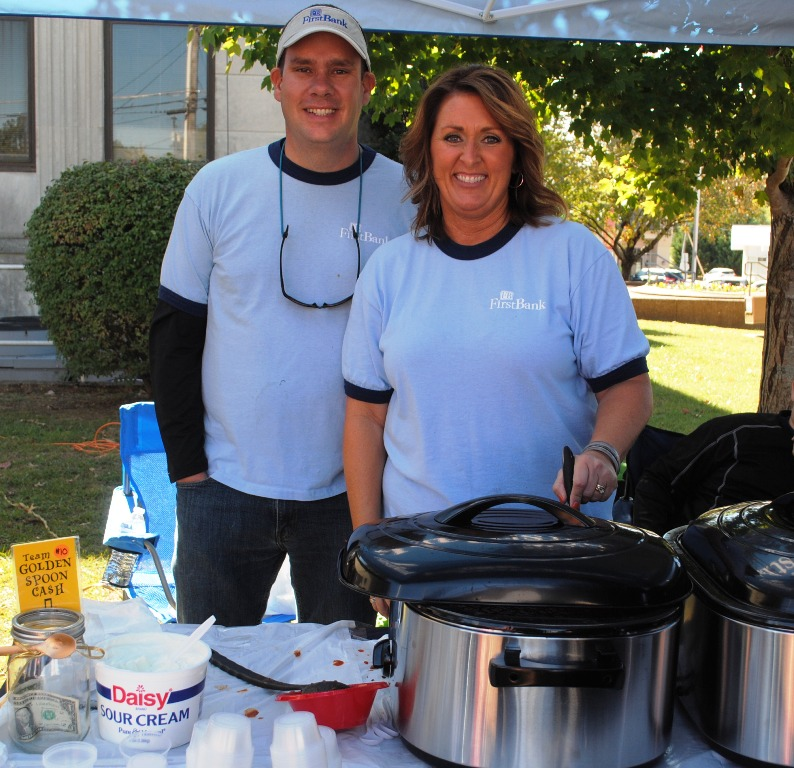 "2019 Habitat Chili Cook-Off and Bake Sale: ""First Choice Chili"" from First Bank- Casey Midgett and Cindy Washer"