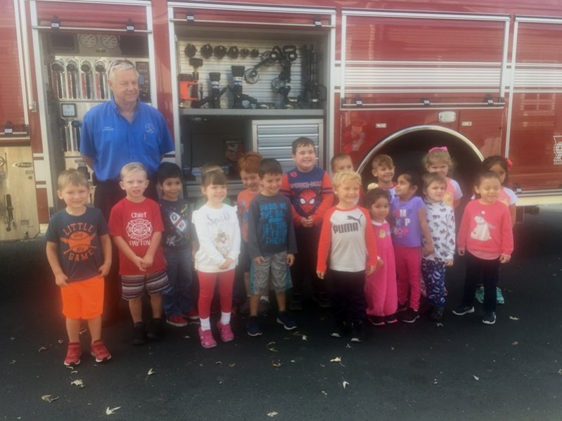 Smithville Fire  Chief Charlie Parker and members of the Department visited with the Smithville Head Start children recently to teach them about Fire Safety.