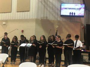 DCHS Chorus performs at Veterans Day program