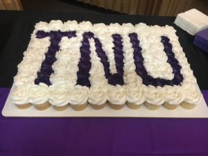Outstanding DCHS senior softball outfielder Megan Walker signed a letter of intent with Trevecca Nazarene University Friday to play collegiate ball after she graduates here. She was joined at the signing by her family, coaches, and Tigerette teammates and afterwards they were served TNU cupcakes