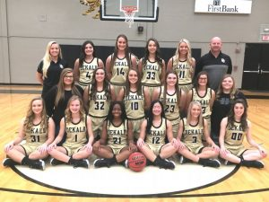 2019 DCHS Lady Tigers: 1st Row: Ally Griffith, Aniston Farler, Xharia Lyons, Hanah Willingham, Megan Cantrell, and Natalie Snipes; 2nd Row: Manager Jaley Hale, Kadee Ferrell, Madison Martin, Grace Griffin, Summer Crook, and Manager Elisabeth Seber; Top Row: Assistant Hanah Panter, Mya Ruch, Kenzie France, Megan Walker, Emme Colwell, and Coach Danny Fish. Not Pictured Assistant Maddison Parsley