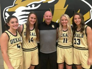 DCHS Lady Tiger Coach Danny Fish with Seniors Mya Ruch, Kenzie France, Emme Colwell, and Megan Walker to be interviewed on WJLE's Tiger Talk program Tuesday at 5:30 p.m.