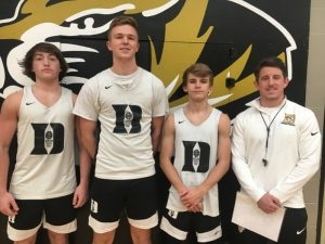 DCHS Tiger Coach John Sanders with Seniors Michael Elswick, Dallas Cook, and Dakota White to be interviewed on WJLE's Tiger Talk program Tuesday at 5:30 p.m.