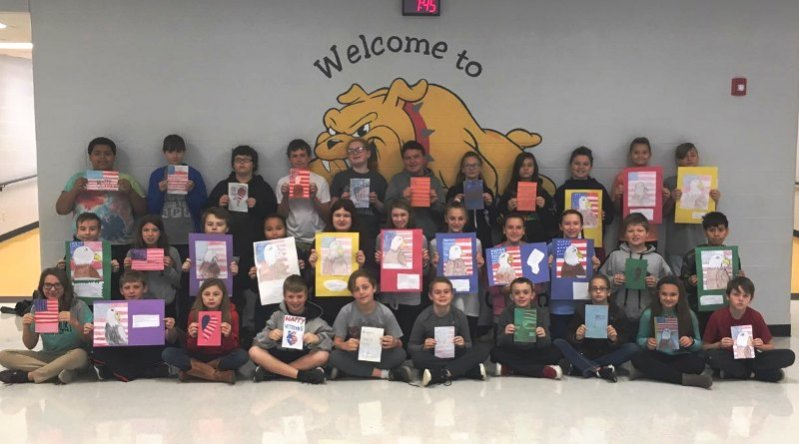 Sixth grade students at DeKalb West School have shown their appreciation to veterans. While some students drew and wrote thank you cards to men and women of the military for Veterans Day Monday, others chose to draw an American Eagle and write poems as their nod of gratitude