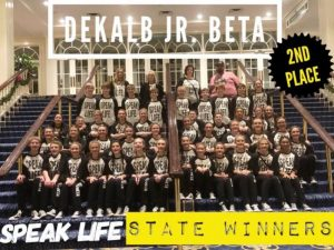 DMS Junior Beta Performing Arts Group Takes 2nd Place at State Convention (View video here)