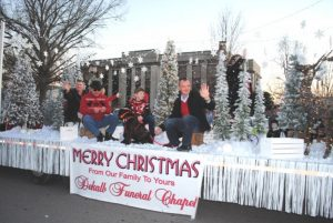 Smithville Christmas Parade: DeKalb Funeral Chapel won 1st place for their float entry in 2019