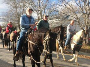 Liberty Christmas Parade : Horseback riders.