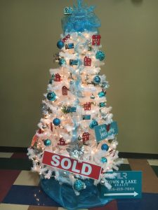Christmas Tree decorated by Town and Lake Realty
