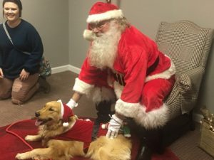 DeKalb Animal Shelter Pet Photos with Santa during Christmas on the Square