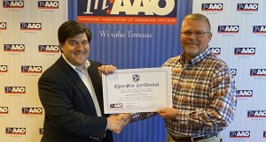 Shannon Cantrell and the DeKalb County Assessor's office have been recognized with 2019 Three Star Certification from the Tennessee Association of Assessing Officers. Pictured Assessor Shannon Cantrell (right) being presented the certification by the TNAAO Executive Director Will Denami