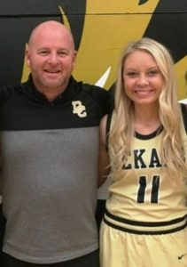 DCHS Lady Tiger Basketball Senior Emme Colwell Honored as Member of 1,000 Point Club