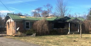 A fire Thursday night gutted a home at 413 Charity Lane.