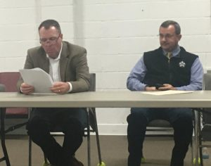 Members of the jail committee include Assistant District Attorney General Greg Strong (left) and Sheriff Patrick Ray