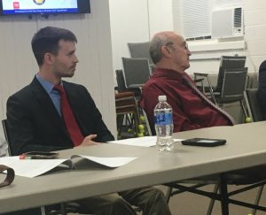 Members of the jail committee include County Commissioner Matt Adcock (left) and County Mayor Tim Stribling