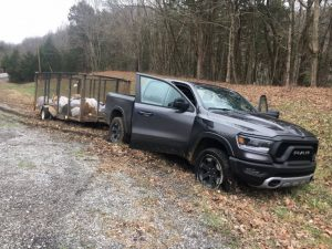 Driver of truck shown here was taken into custody near Hurricane Bridge after a pursuit from White County through Smithville and then onto Cookeville Highway to the bridge. Spike strips were put down to help disable the truck