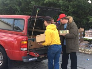 Members of the Smithville Cumberland Presbyterian Church and other volunteers devoted several hours of their day Saturday to make sure the less fortunate of our community have plenty to eat for several days during a mobile food pantry