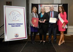 Lisa Cripps of DeKalb County was honored earlier this month during the 12th Annual Governor's Volunteer Stars Awards ceremony at the Franklin Marriott Cool Springs in Franklin. She is pictured here with State Representative Terri Lynn Weaver, Van Hilleary, representing Congressman John Rose, and Miss Tennessee Volunteer 2019, Kerri Arnold.