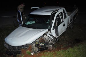 20 year old Chloe Cantrell of Smithville was airlifted to Vanderbilt Hospital after a two vehicle crash Friday night on Cookeville Highway near the Phillipi Church. According to Trooper Jonathan Burke of the Tennessee Highway Patrol, 57 year old Douglas Judkins of Smithville, driving a 2000 Chevy Silverado (shown here) north on Highway 56, crossed into the southbound lane and struck Cantrell's 2016 Hyundai Veloster. WJLE photo