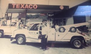 The late Kent Robinson pictured here during his days operating Kent's Texaco and Wrecker Service