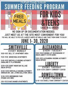DeKalb School System to Offer Summer Meals to Children