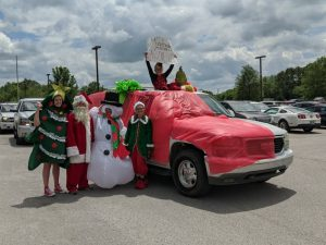 Northside Elementary Hosts Student Awards Parade Celebration last week. Students also honored the NES teachers by decorating their cars and sending messages to them. One student per grade level was awarded prizes for car decorations sponsored by the NES PTO. The 4th Grade winner was Taylor Vincent (The Grinch)
