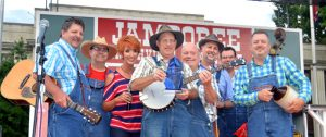 """The Tennessee Mafia Jug Band became the fourth annual recipient of the Fiddlers' Jamboree's """"Blue Blaze Award"""" during the 46th annual Smithville Fiddlers Jamboree and Crafts Festival in July 2017."""