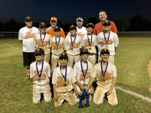 The DeKalb Youth Baseball League 10U team won the Tennessee Youth Baseball Association (TYBA) Open championship in July at Barfield Park in Murfreesboro.
