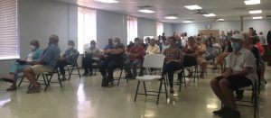 Almost full room of spectators at Smithville City Council meeting Monday Night