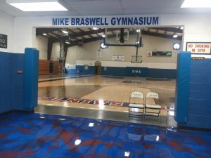 DeKalb Middle School Receives Major Facelift Over Summer Break to make the building more convenient and secure including the resurfacing of the new gym floors and a newly painted entrance floor to the gym.