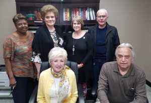 The DeKalb County Election Commission: Pictured: Seated-Walteen Parker and Dennis Stanley (Administrator). Standing- Jackie Smith, Barbara Vanatta, Lisa Peterson, and Jim Dean.