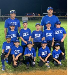 DTC Blaze of DeKalb Youth Baseball Machine Pitch Completes Undefeated Season