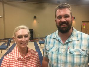 Harriet Adrian and Ryan Corcoran, both residents of Puckett's Point Road, addressed the County Commission Monday night to ask that a continuous 20 mph speed limit be set for the entire 2 mile stretch of Puckett's Point Road in the interest of public safety. The commission voted 10-3 to grant the request.