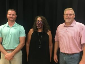 6th district school board member Jason Miller, 5th district school board member Jamie Cripps, and Assessor of Property Shannon Cantrell