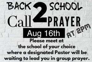 """Back 2 School-Call 2 Prayer"" Postponed Until August 16"
