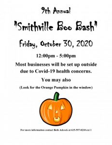 Smithville Boo Bash Set for October 30