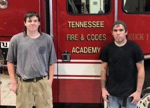 Two members, Patrick Colwell and Jordan Lader of the DeKalb County Fire Department graduated from the Tennessee Fire Service and Codes Enforcement Training Academy's Live Burn Firefighter I class held Saturday and Sunday, September 12 and 13.