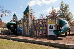 Existing Playground at Greenbrrook Part was built in 1997. The city is seeking grant funds through the Blue Cross Blue Shield Healthy Places Foundation to replace the playground with a new one
