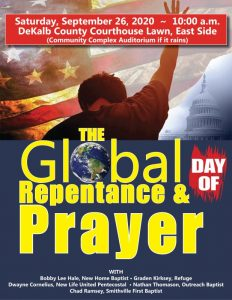 Global Day of Repentance and Prayer Saturday, September 26