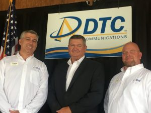 DTC Communications (DeKalb Telephone Cooperative) Directors up for re-election Saturday during the annual meeting won new terms without opposition including (left to right): Incumbents Jim Vinson – Milton exchange with 72 votes;, Terry McPeak – Norene exchange with 70 votes; and Brian Alexander – Woodbury exchange with 73 votes.