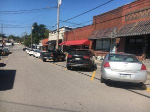 City Creates Diagonal Parking Spaces on West Walnut Street