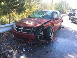 41 year old Brian E. Clark of Smithville lost his life in a two car crash Thursday morning on Dale Ridge Road (Highway 96) near Jones Lane. He was driving a yellow 2003 Toyota Celica south when he crossed into the oncoming lane while negotiating a right curve and struck a northbound maroon 2010 Dodge Avenger (shown here) driven by 33 year old Echo M. Hicks of Sparta. 38 year old Virgil Willis of Brush Creek was a passenger with Hicks.