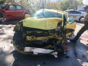 41 year old Brian E. Clark of Smithville lost his life in a two car crash Thursday morning on Dale Ridge Road (Highway 96) near Jones Lane. He was driving the yellow 2003 Toyota Celica shown here.