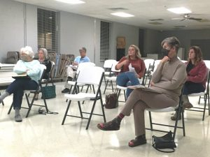 Stray dogs from outside the city limits of Smithville will no longer be picked up or accepted at the DeKalb Animal Shelter. The action was taken during a special called meeting of the Smithville Mayor and Aldermen Thursday night following a work session meeting with Marsha Darrah (pictured seated front left) and Sue Puckett (seated front right), Board members of the DeKalb Animal Coalition.